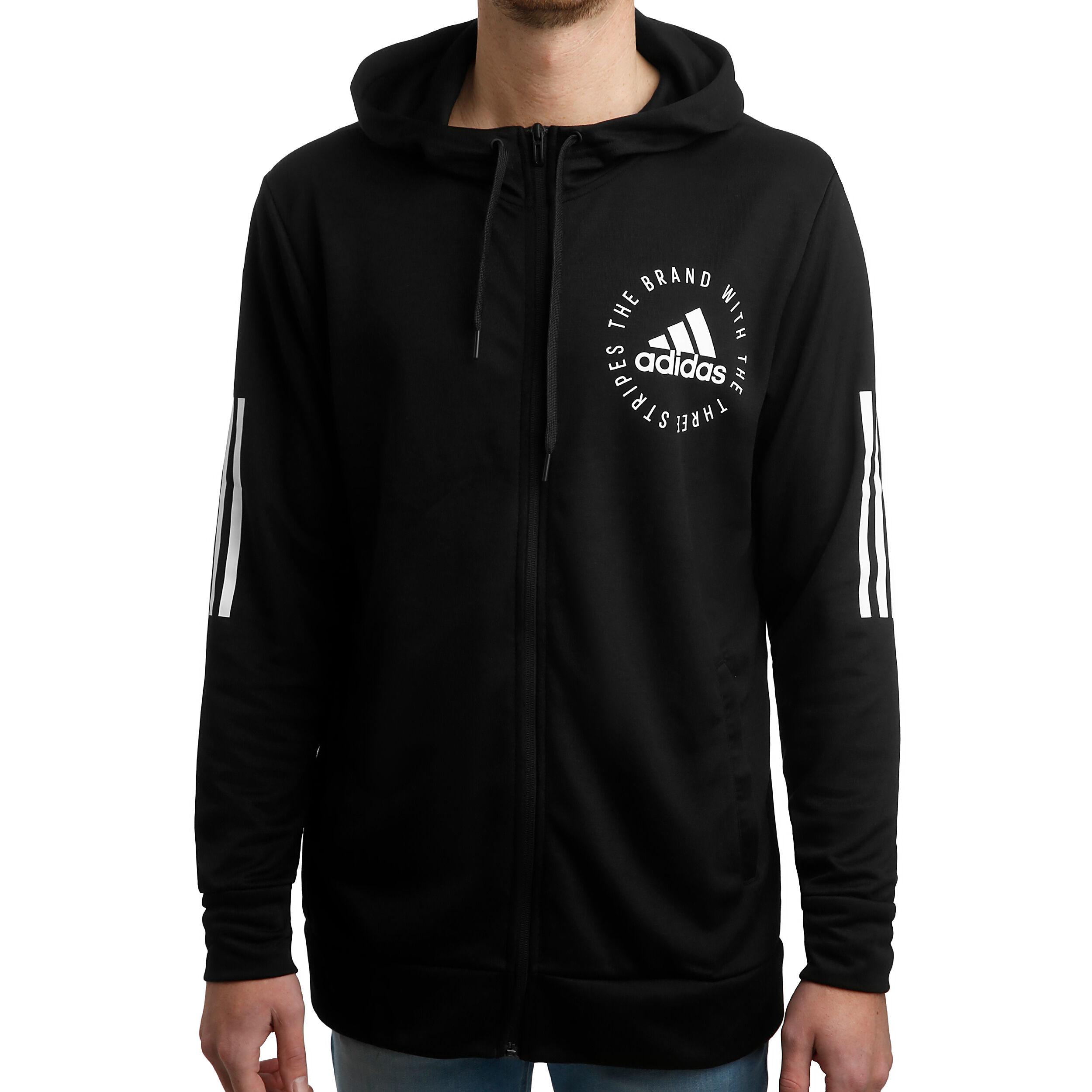 adidas M ID 14 Zip Jacke Schwarz Schwarz Herrenbekleidung