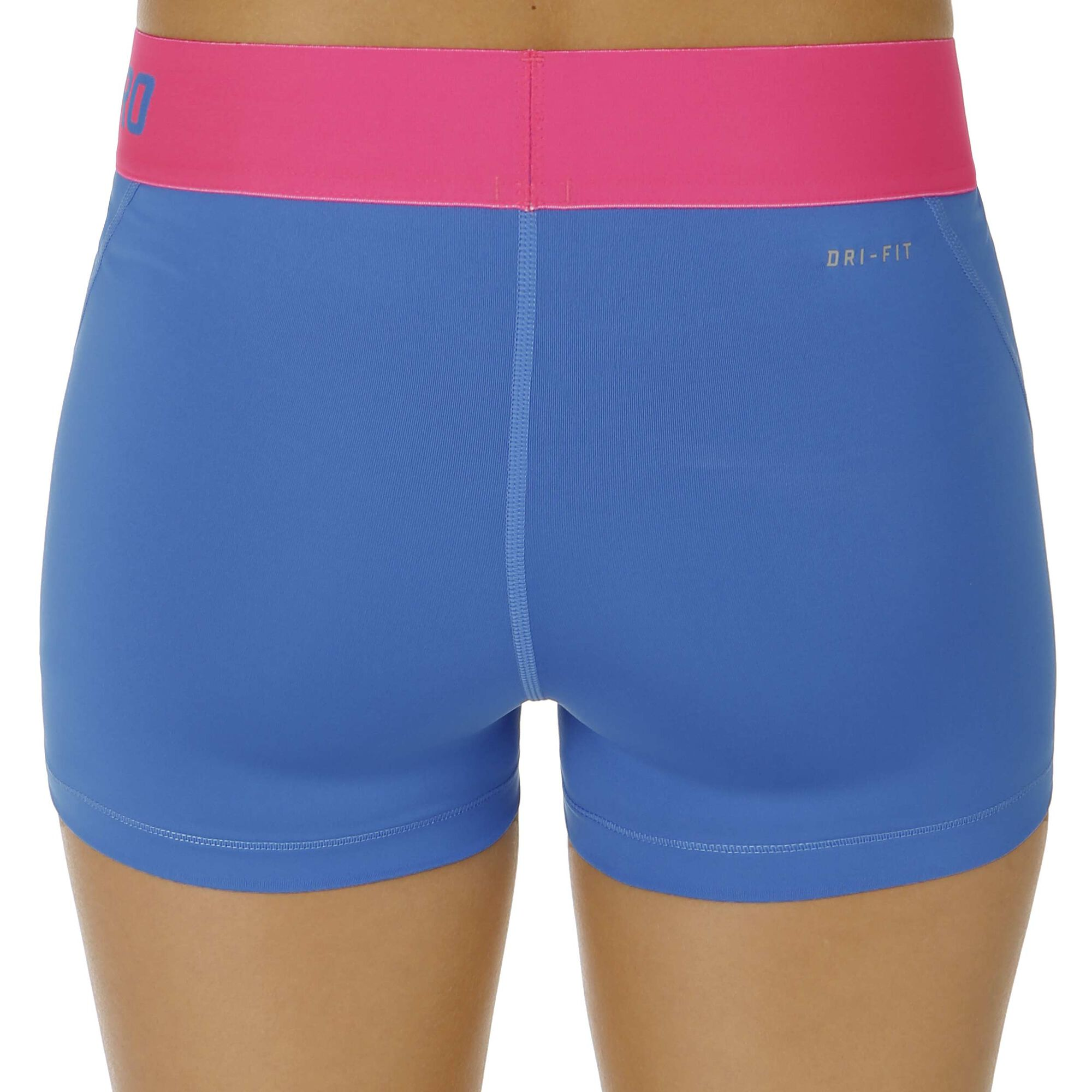 nike pro dry fit 3 shorts damen hellblau pink online. Black Bedroom Furniture Sets. Home Design Ideas