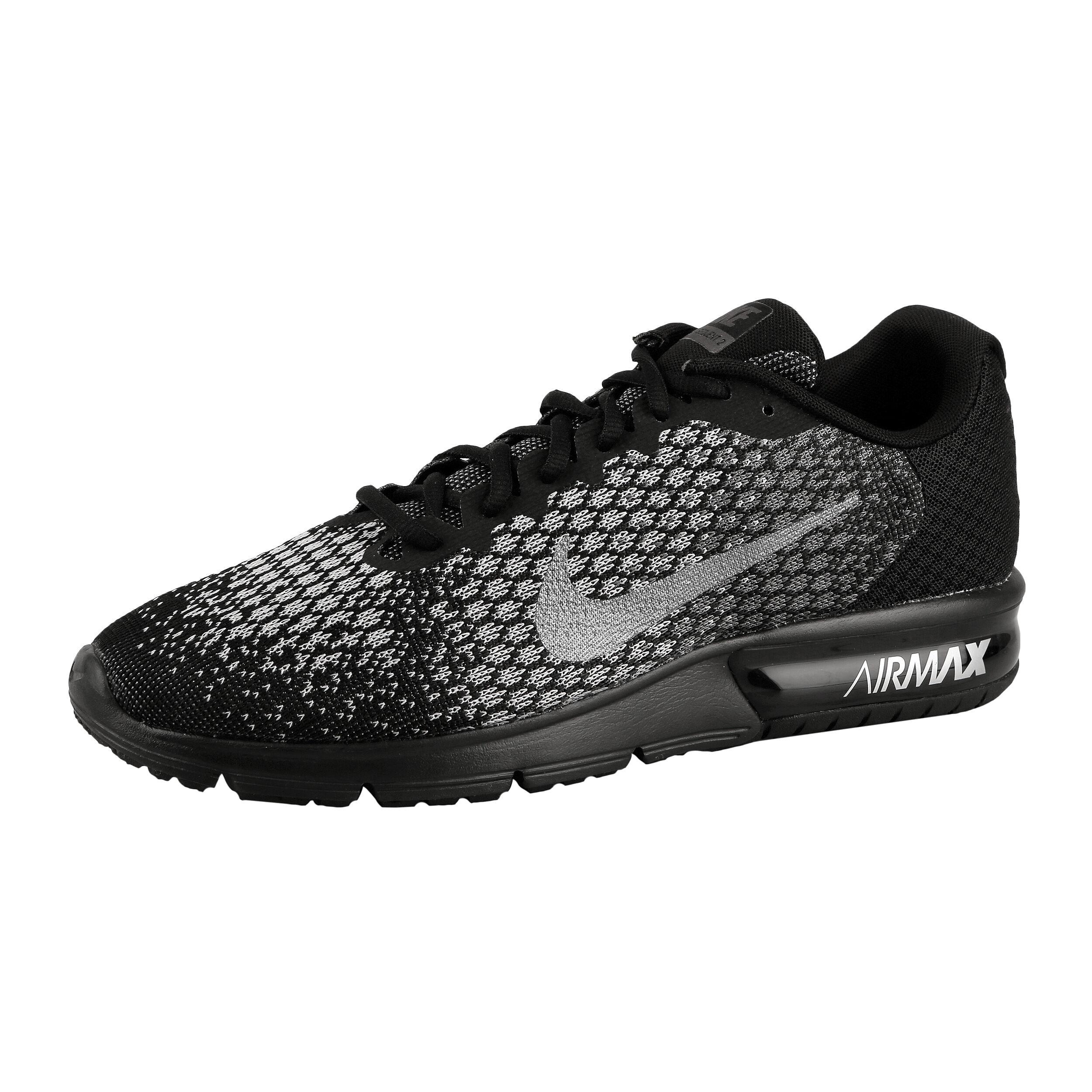 Nike Air Max Sequent 2 Neutralschuh Herren Schwarz, Silber