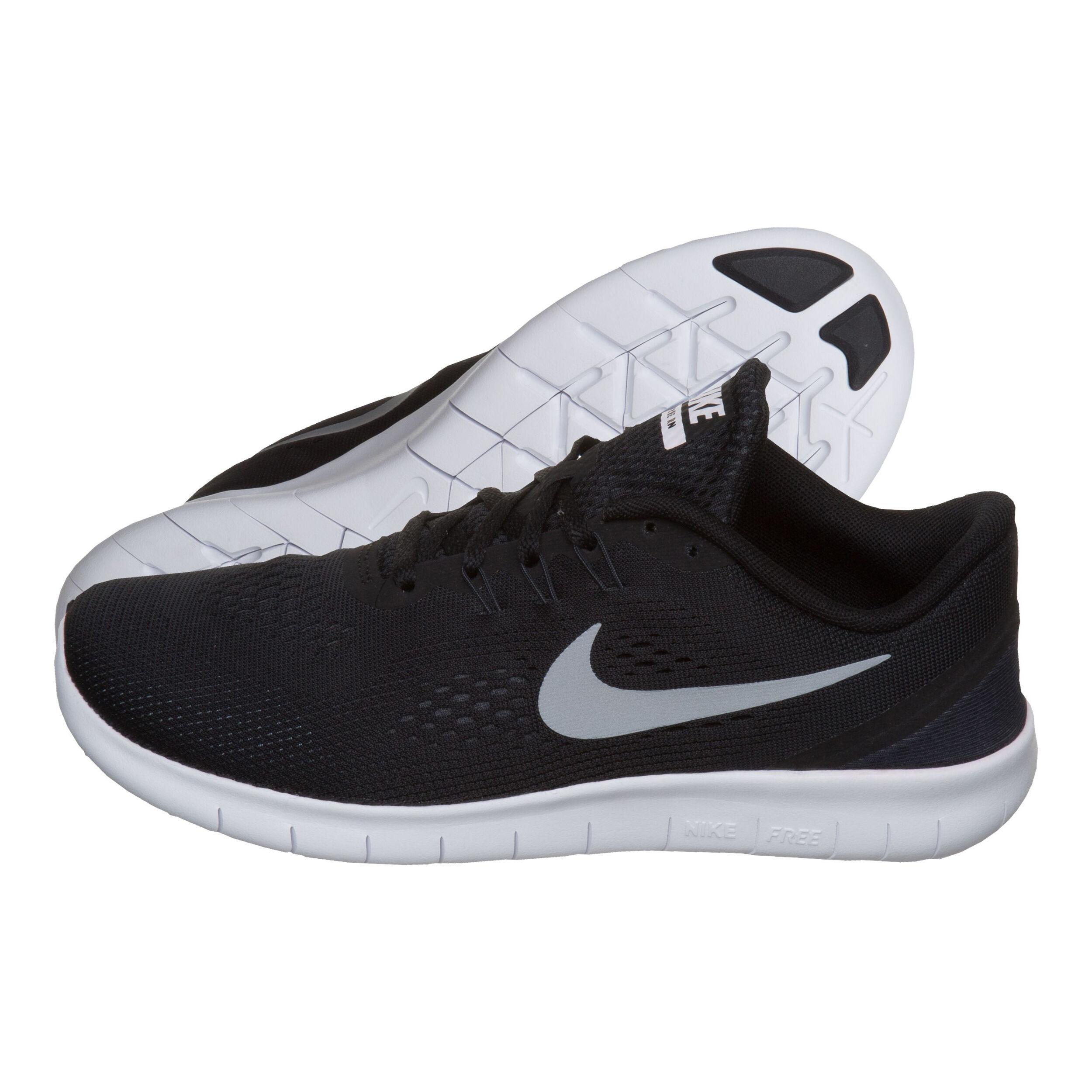 Nike Free RN Natural Running Schuh Kinder Schwarz, Silber