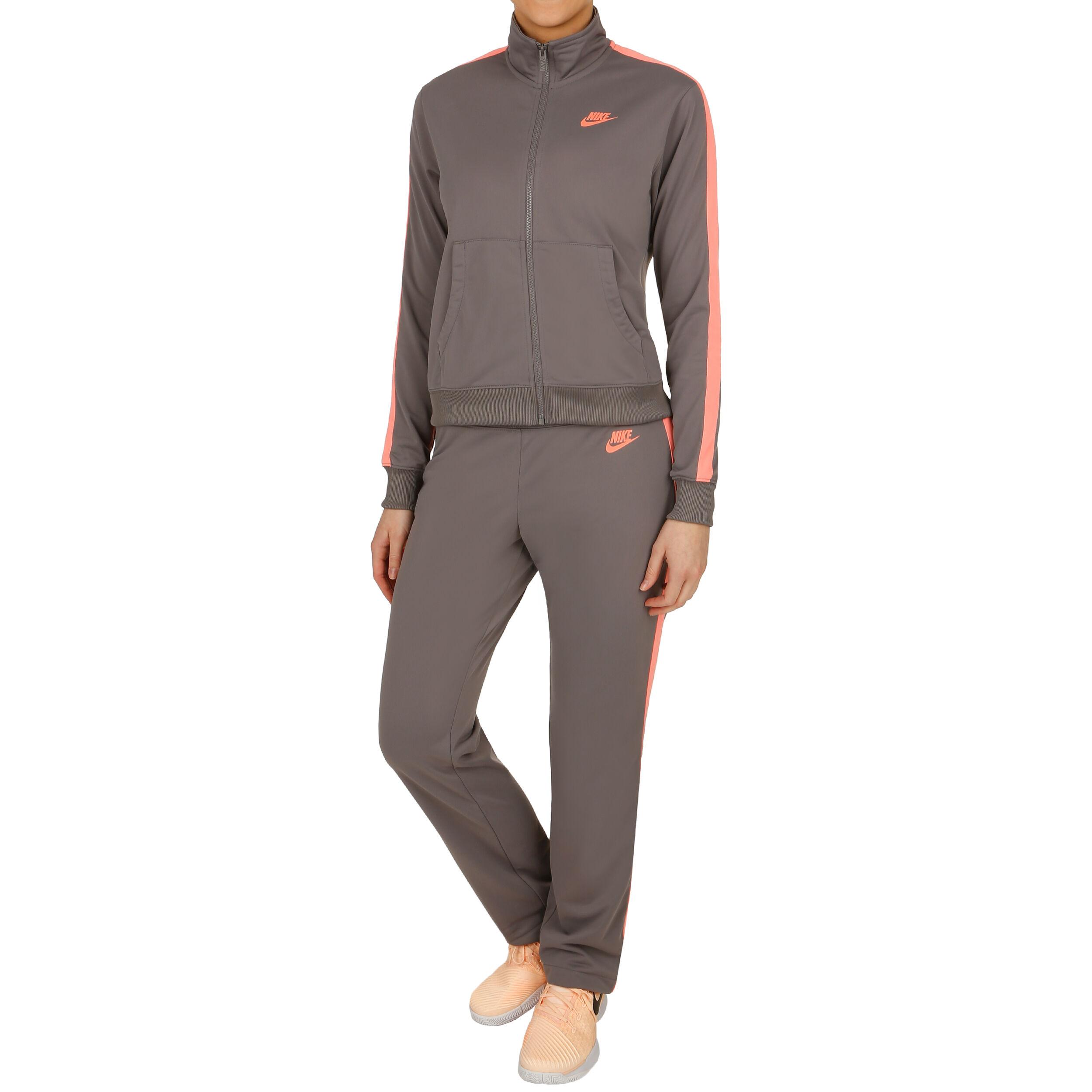 Nike Sportswear Trainingsanzug Damen - Dunkelgrau, Orange online ...