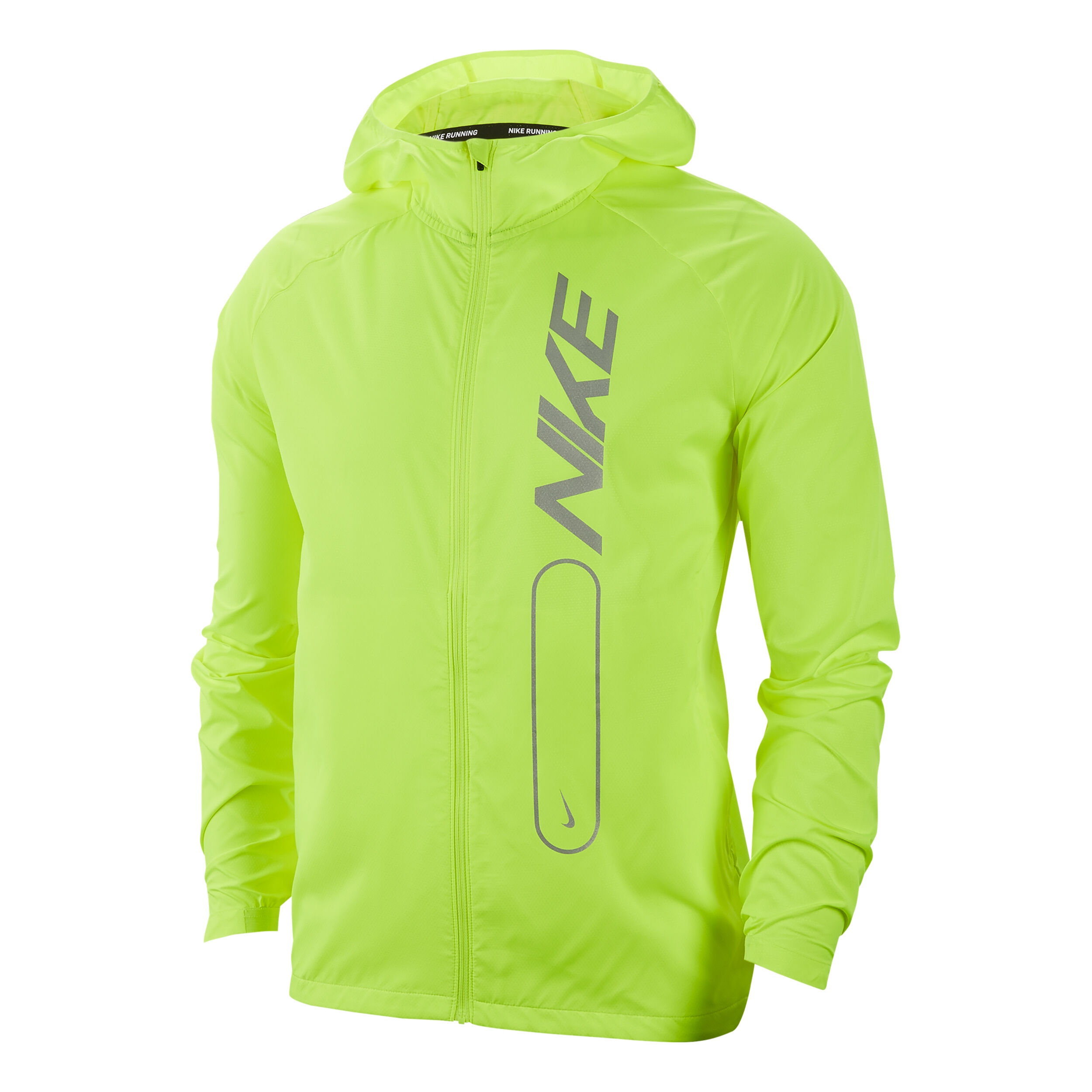 Nike Air Pro Essential Trainingsjacke Herren Neongelb, Silber
