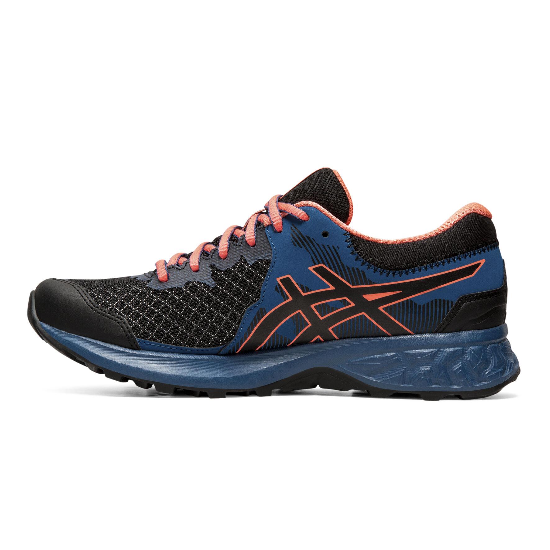 Asics Gel Sonoma 4 (D) Womens Trail Running Shoes BlackSun Coral