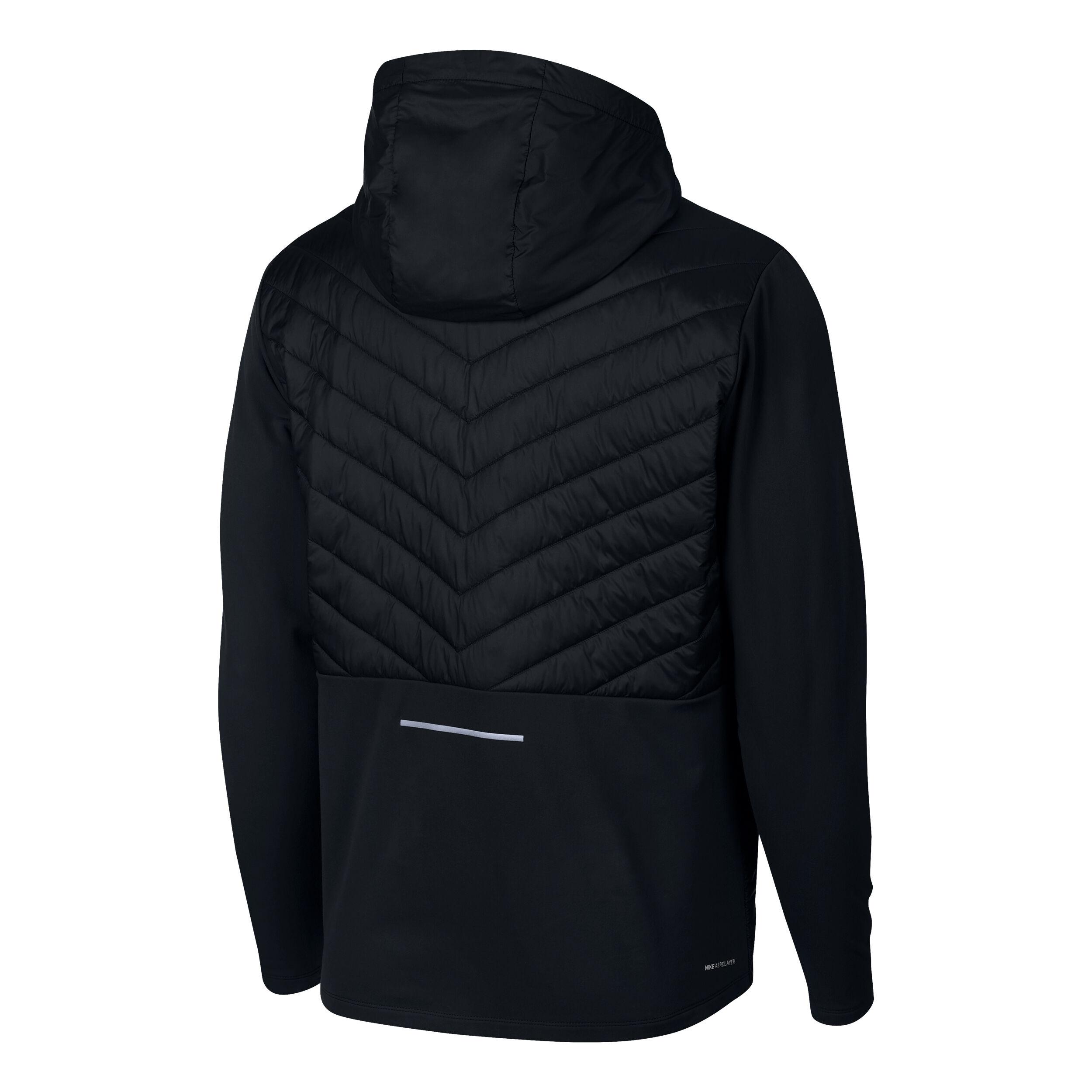 Nike AeroLayer Laufjacke Herren Schwarz, Silber