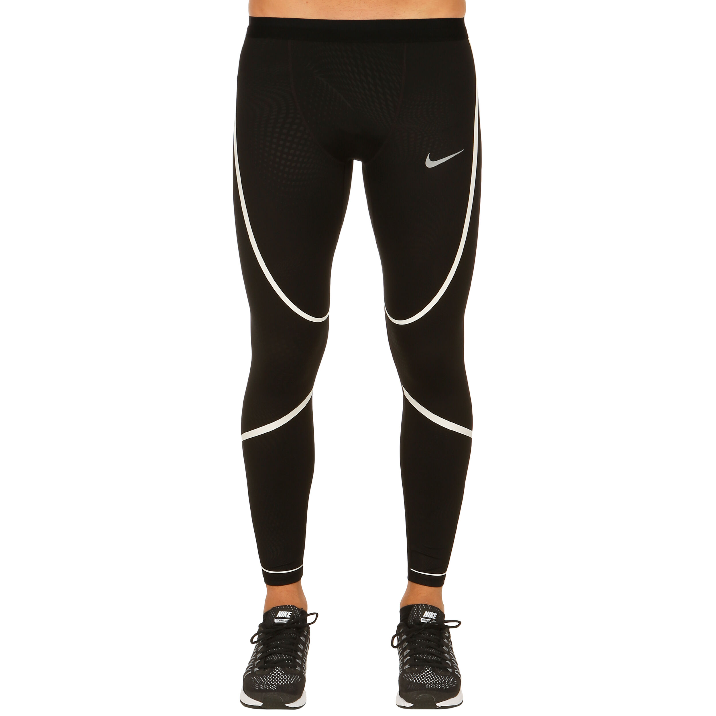 Nike Power Tech Tight Herren Schwarz, Weiß online kaufen