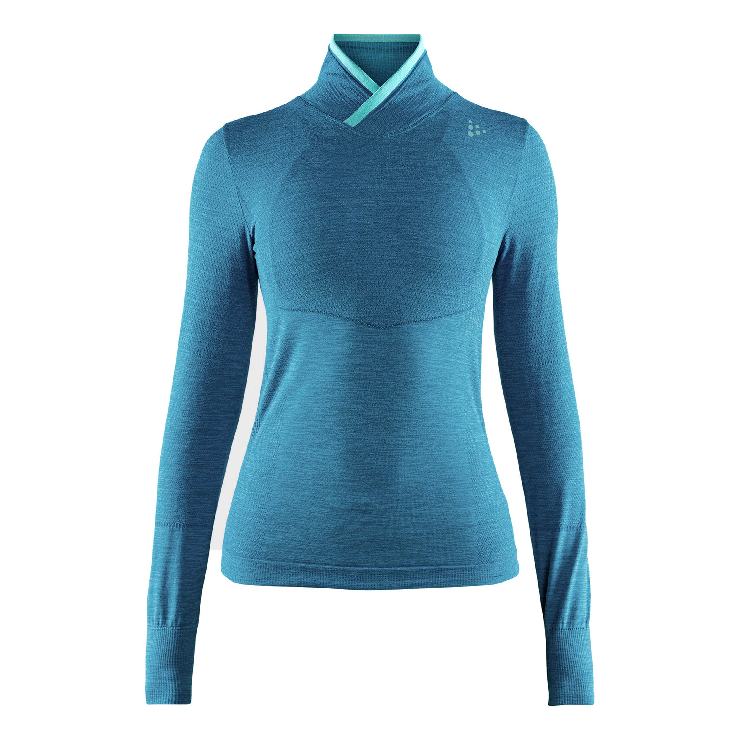 Craft Damen Fuseknit Comfort Run T-Shirt Hellgrau Blau
