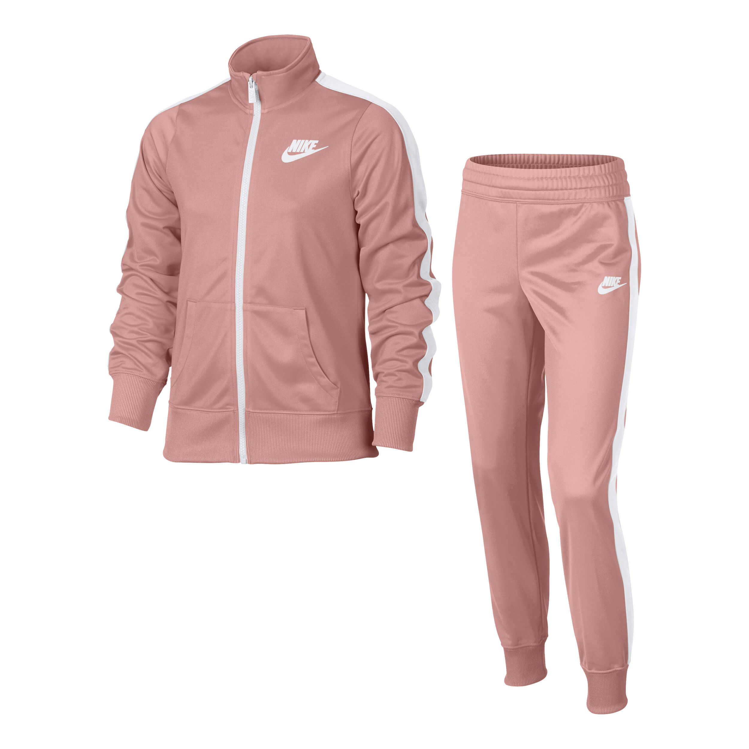 Nike Sportswear Tricot Trainingsanzug Mädchen - Rosa, Weiß