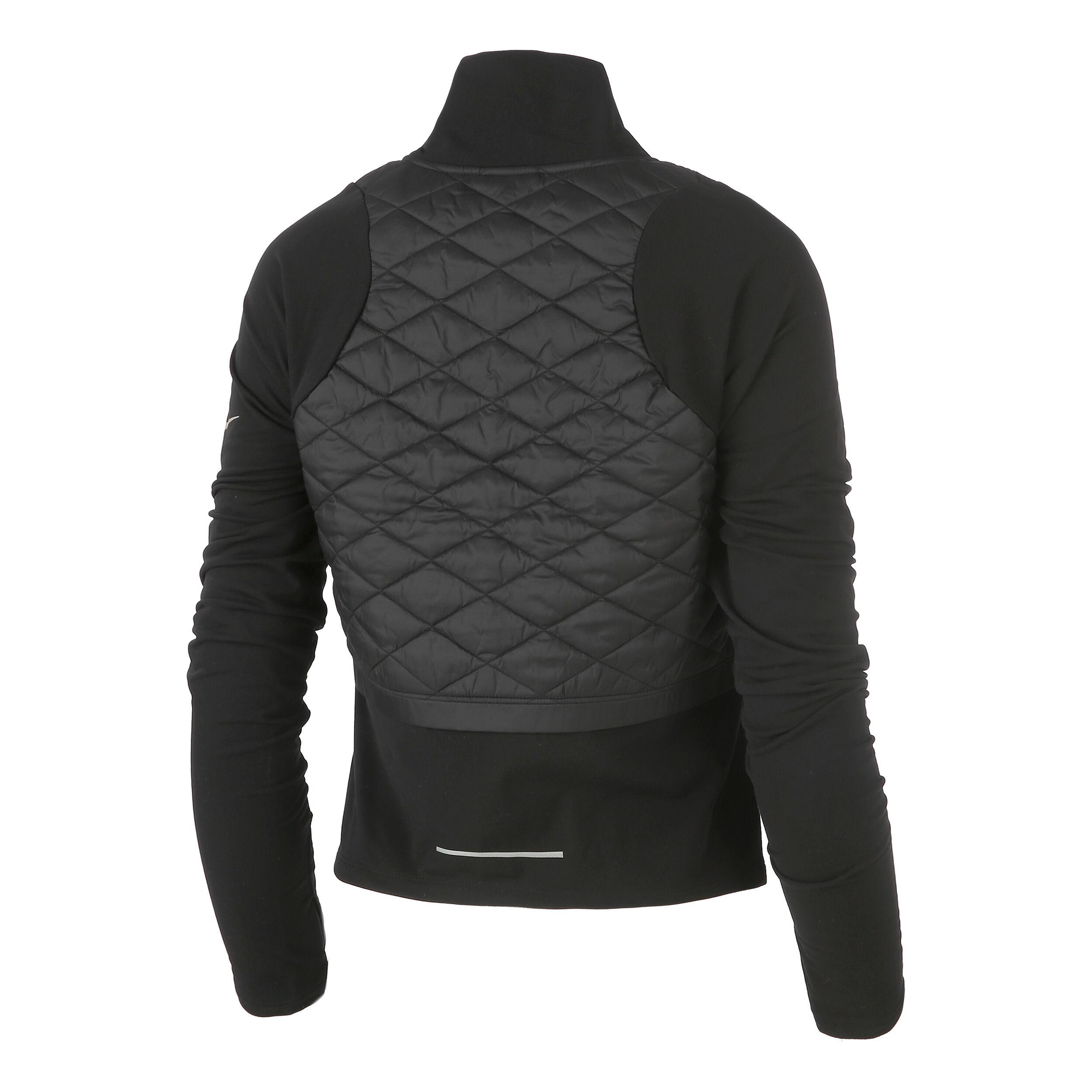 Nike AeroLayer Laufjacke Damen Schwarz, Dunkelgrau