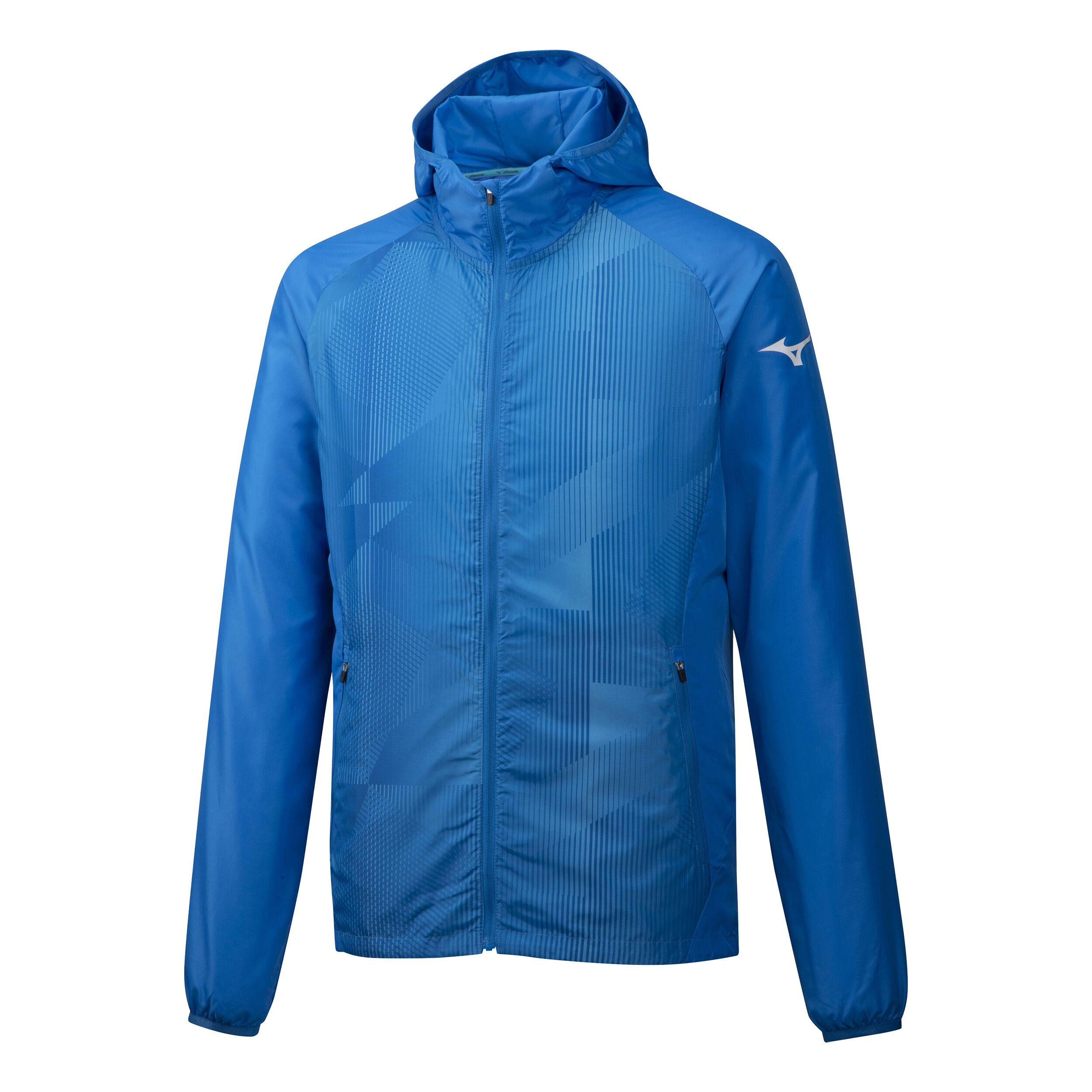 Mizuno Printed Trainingsjacke Herren Blau, Hellblau online