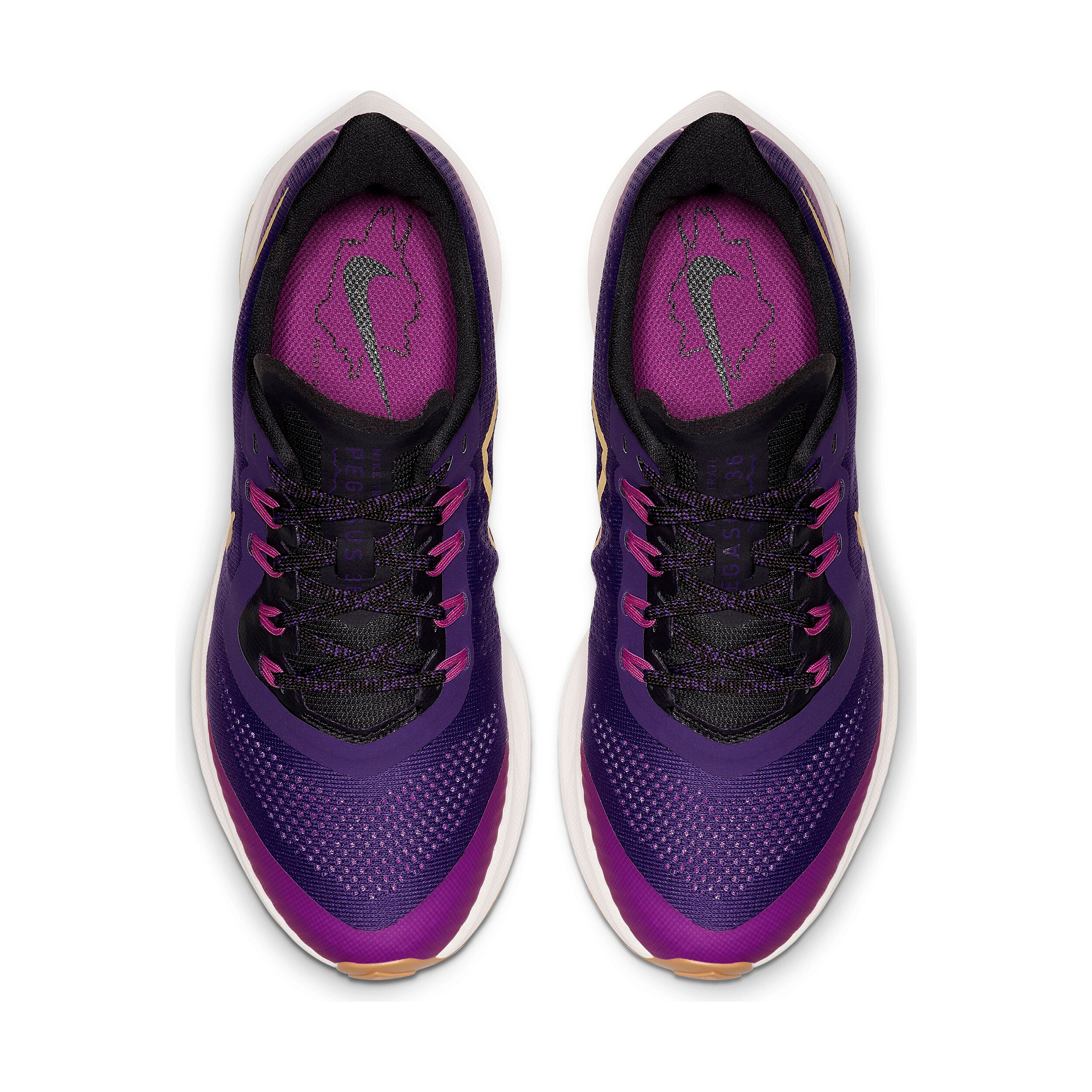 Nike Pegasus Air Zoom 36 Trailschuh Damen Lila, Gold