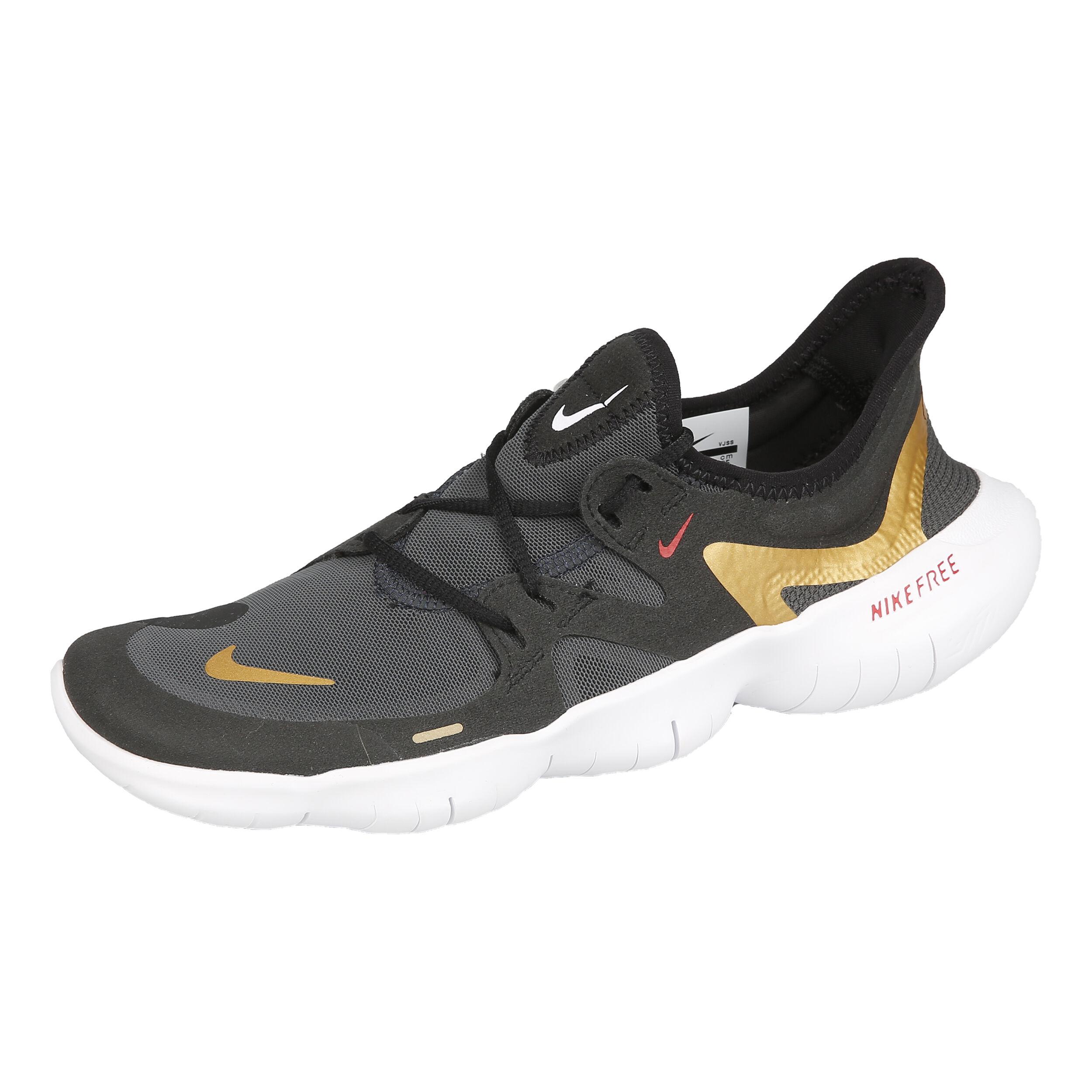 Nike Free Run 5.0 Neutralschuh Damen Schwarz, Gold online