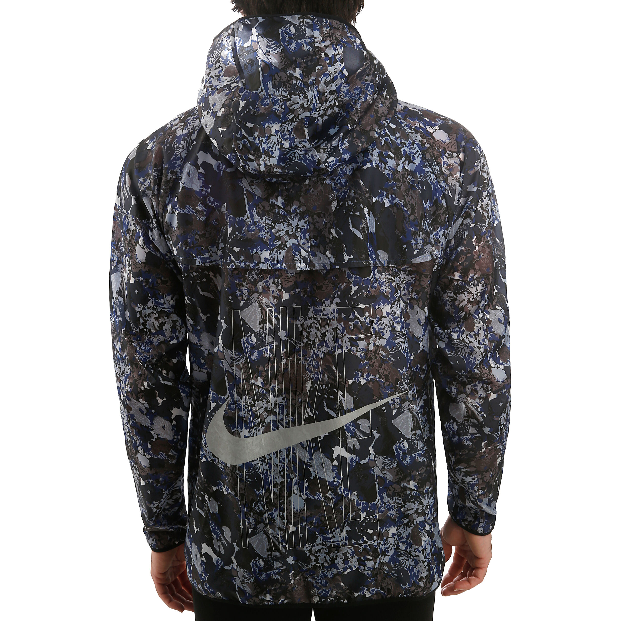 Nike Run Windrunner Herren Printed Laufjacke indigo force