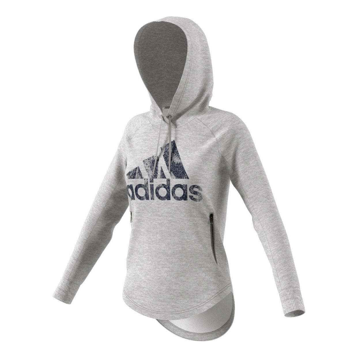 adidas Sport ID Over Head Hoody Damen Hellgrau