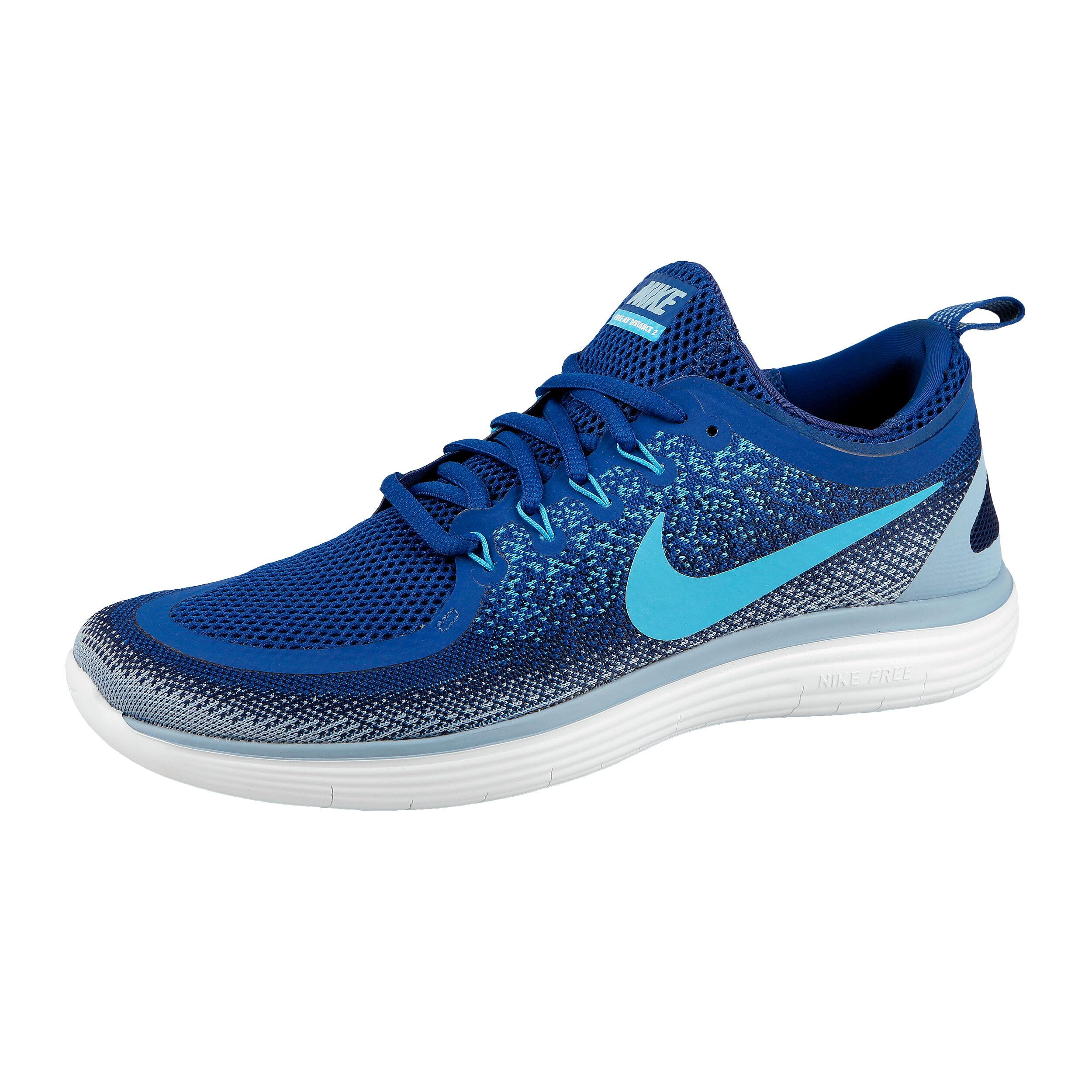 Nike Free Run Distance 2 Natural Running Schuh Herren Blau, Hellblau