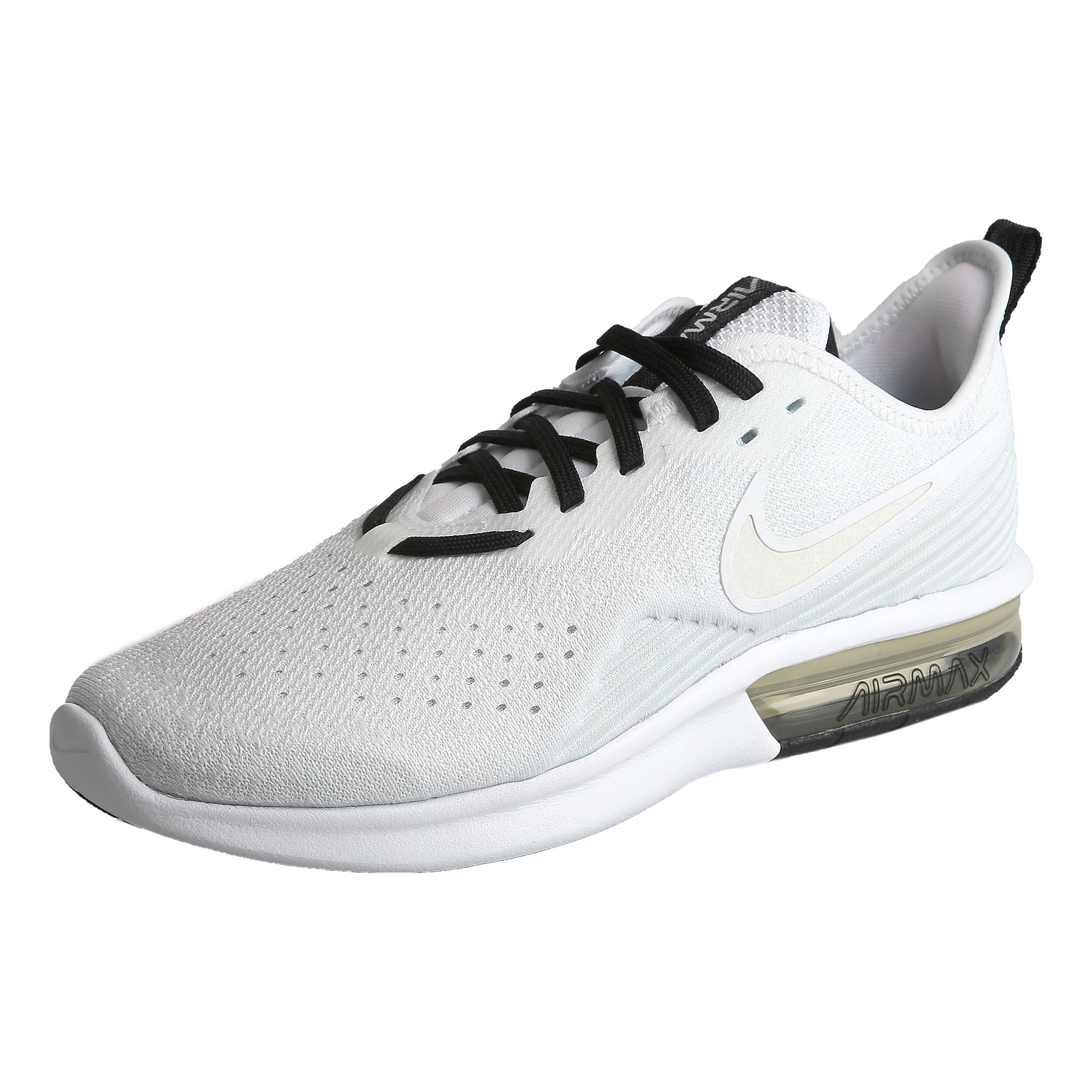 Nike Air Max Sequent 4 Neutralschuh Damen Hellgrau, Weiß