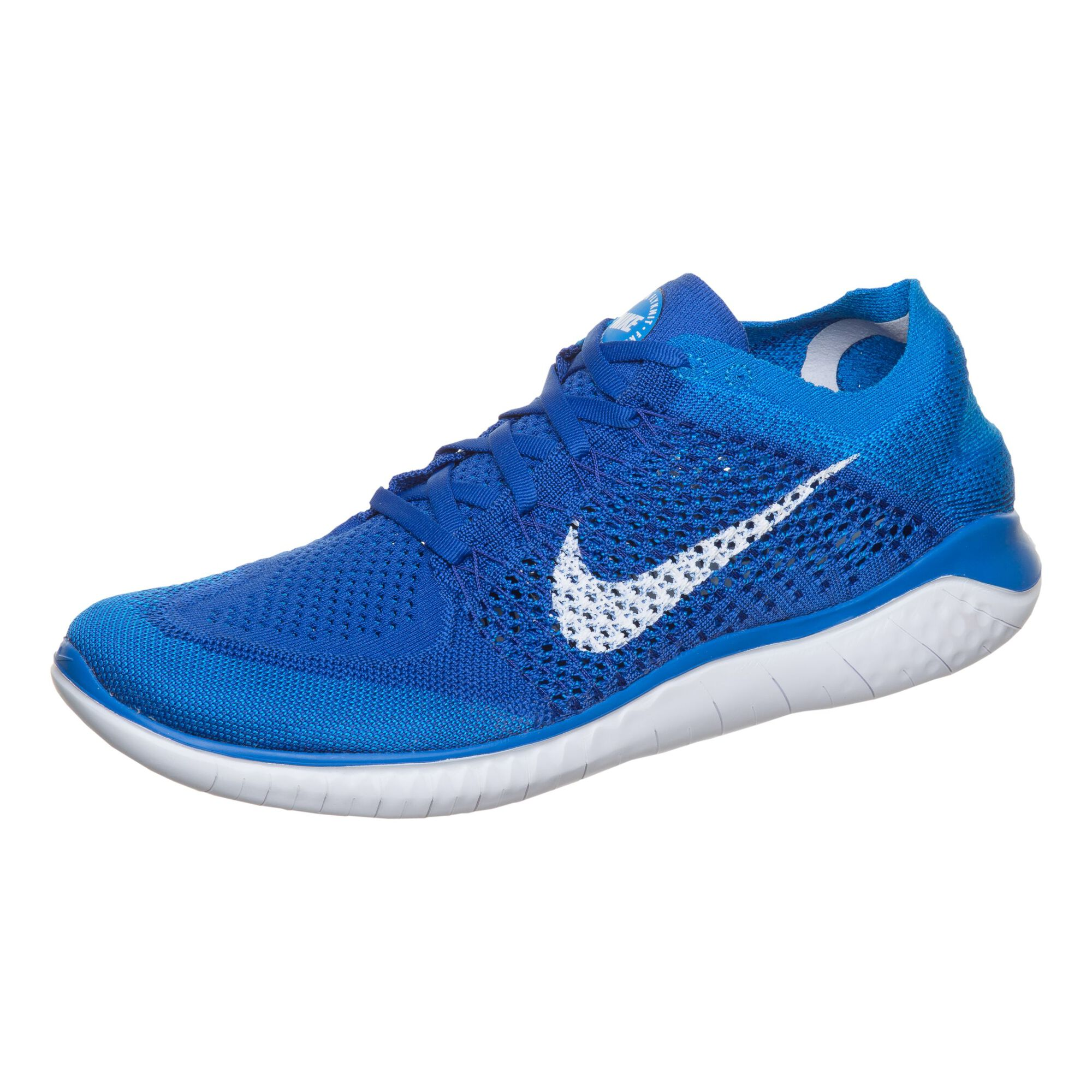 new style 12e33 129fa Nike Free Run Flyknit 2018 Natural-Running Schuh Herren - Blau ...