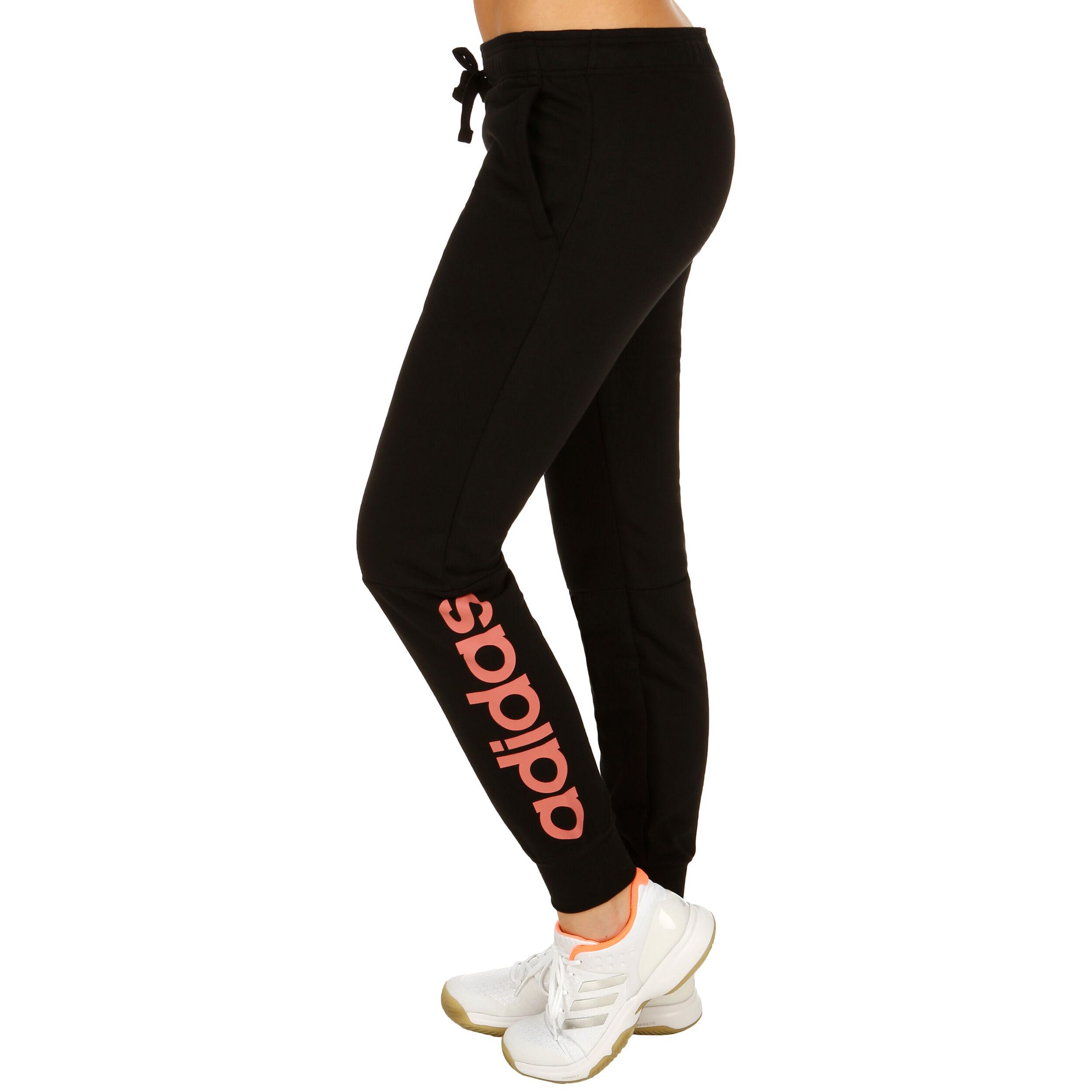adidas Essentials Linear Trainingshose Damen Schwarz, Rosa