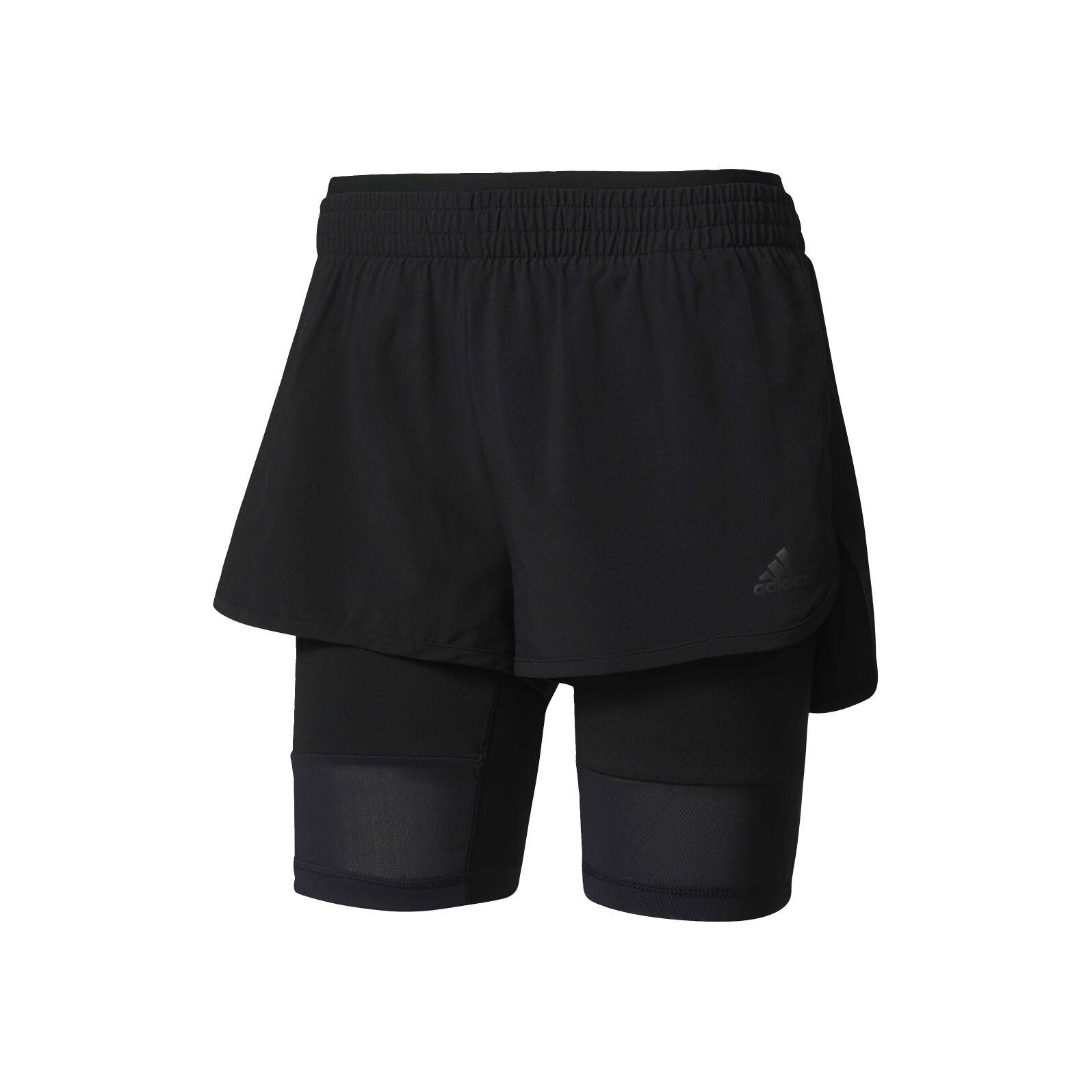 adidas 2in1 Long Shorts Damen Schwarz online kaufen