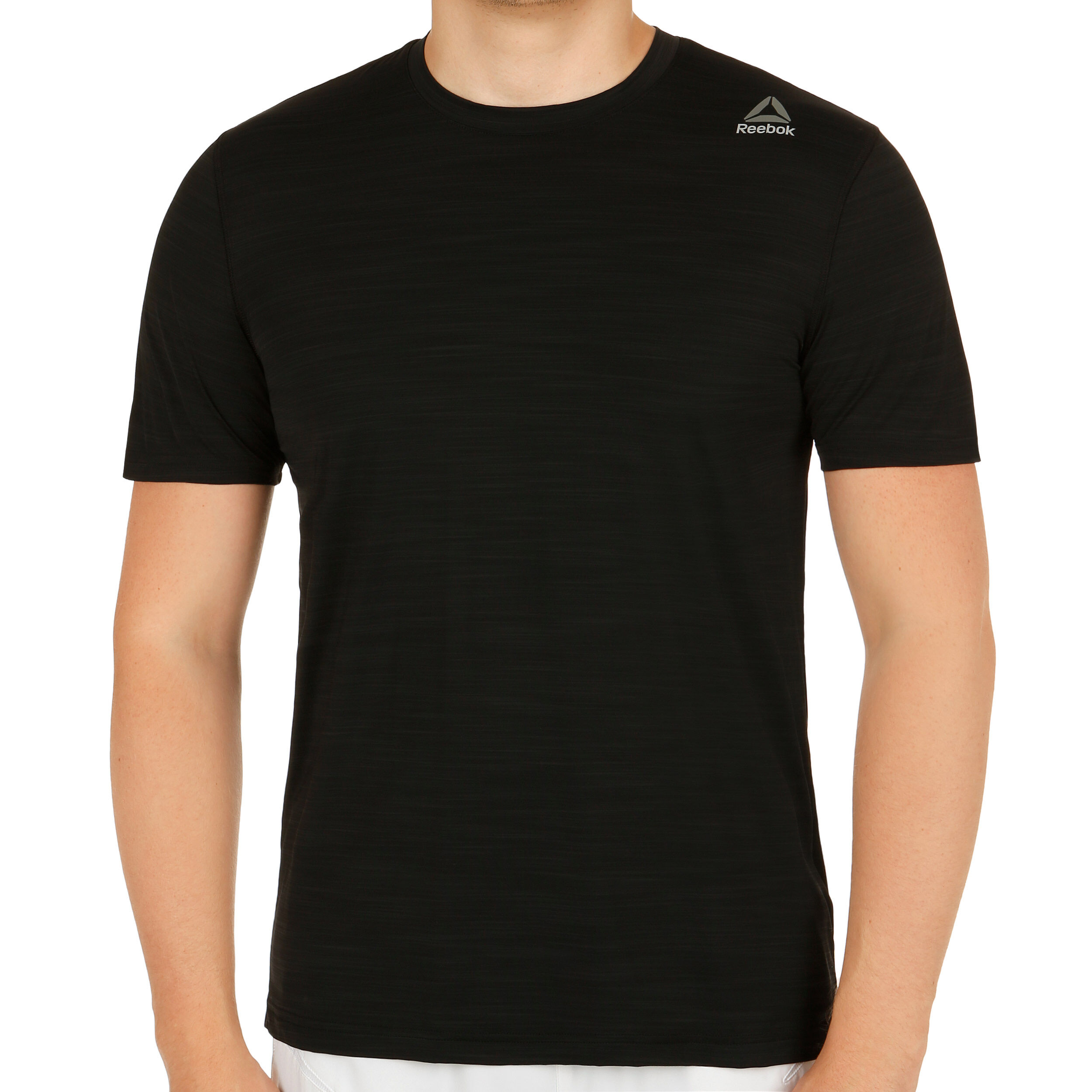 Reebok Workout Active Chill Tech T Shirt Herren Schwarz