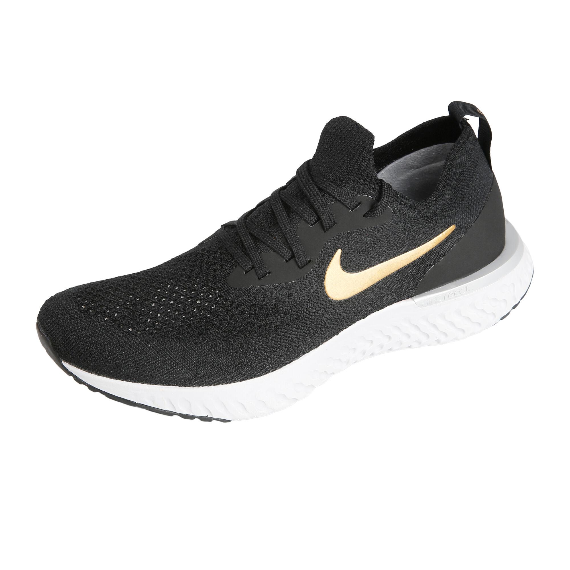 pretty nice 09bd8 10897 Nike Epic React Flyknit Neutralschuh Damen - Schwarz, Gold online ...