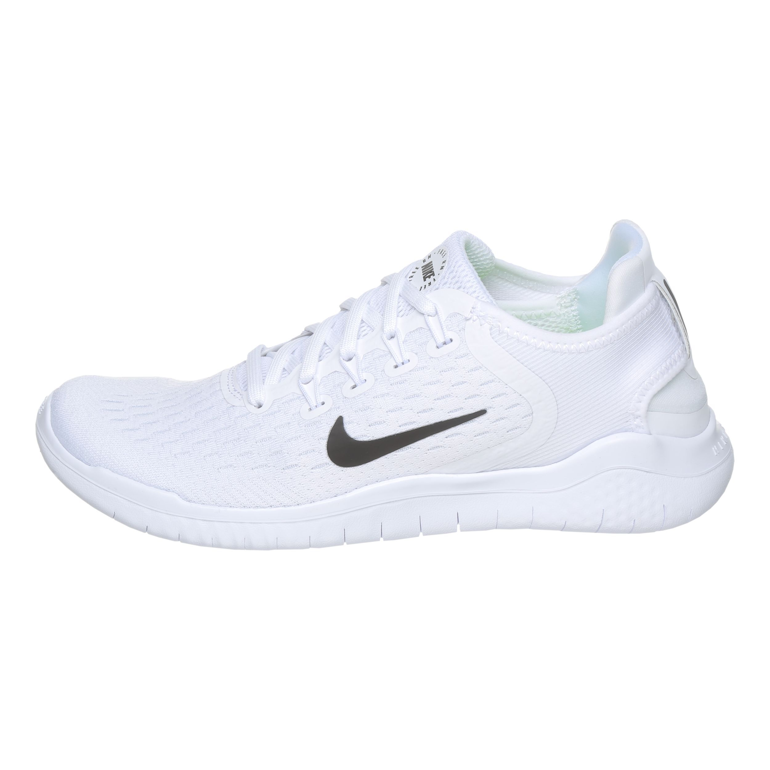 Nike Free Run 2018 Natural-Running Schuh Damen - Weiß, Schwarz ...