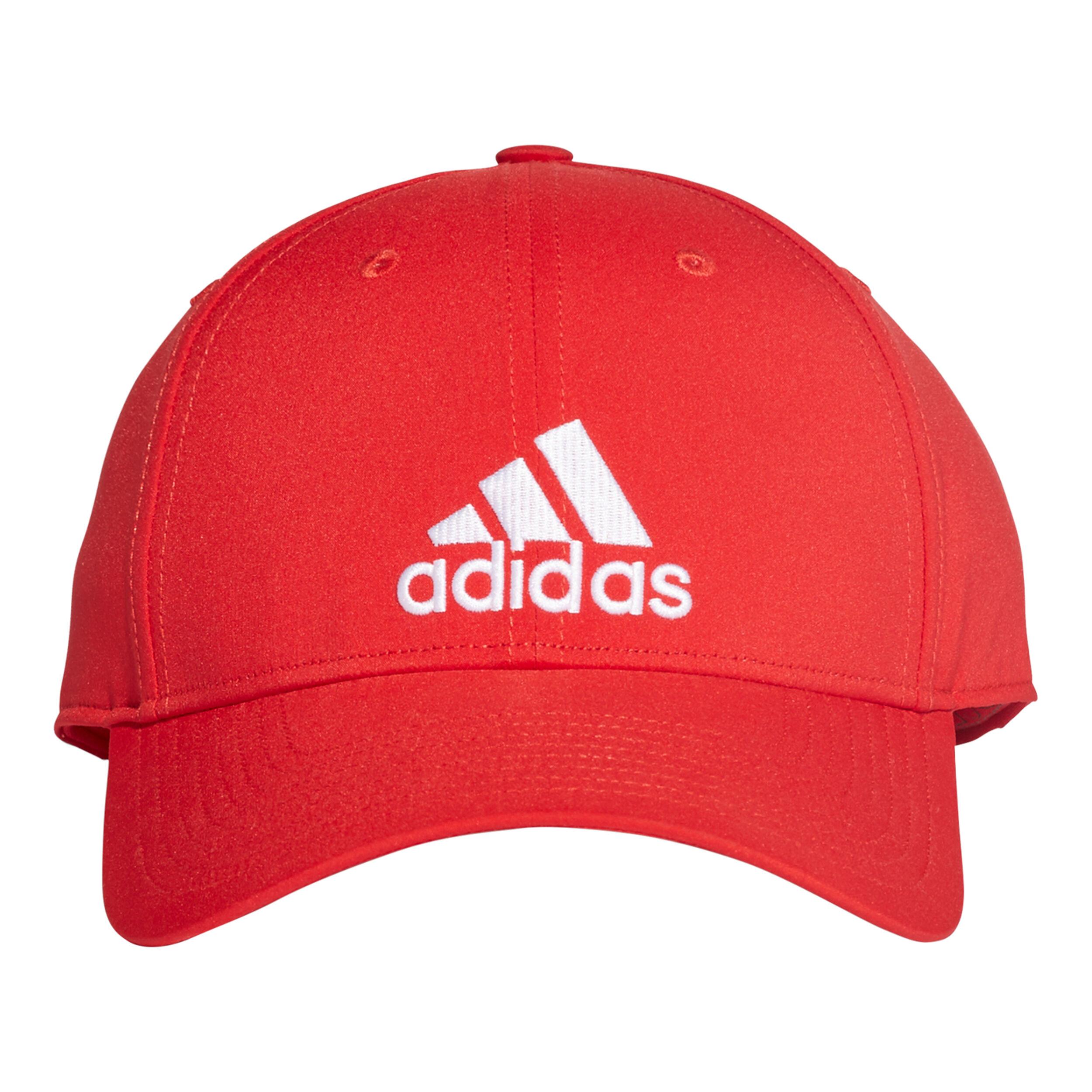 adidas 6 Panel Lightweight Cap Rot, Weiß online kaufen