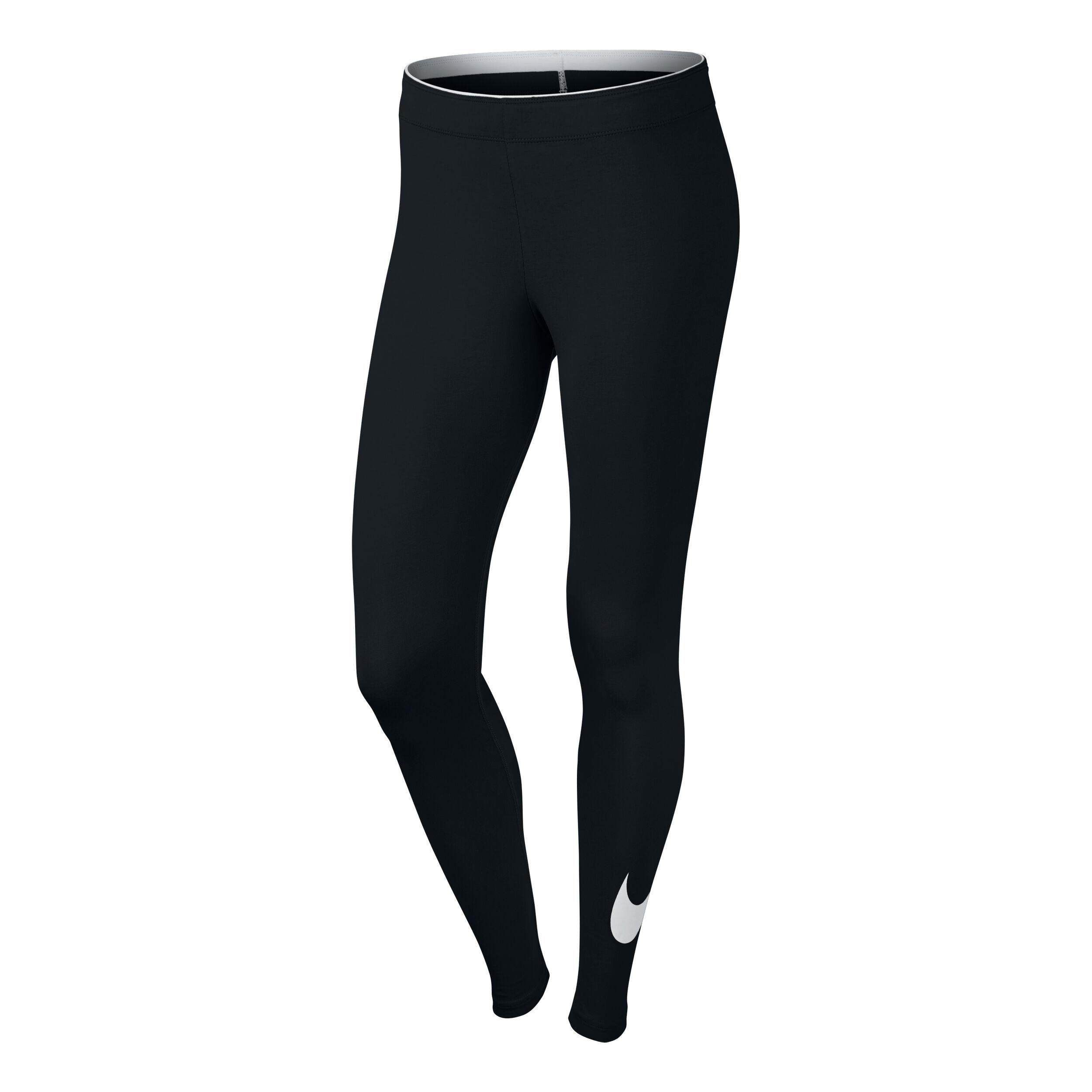 Sportswear Swoosh Tight Damen Schwarz, Weiß