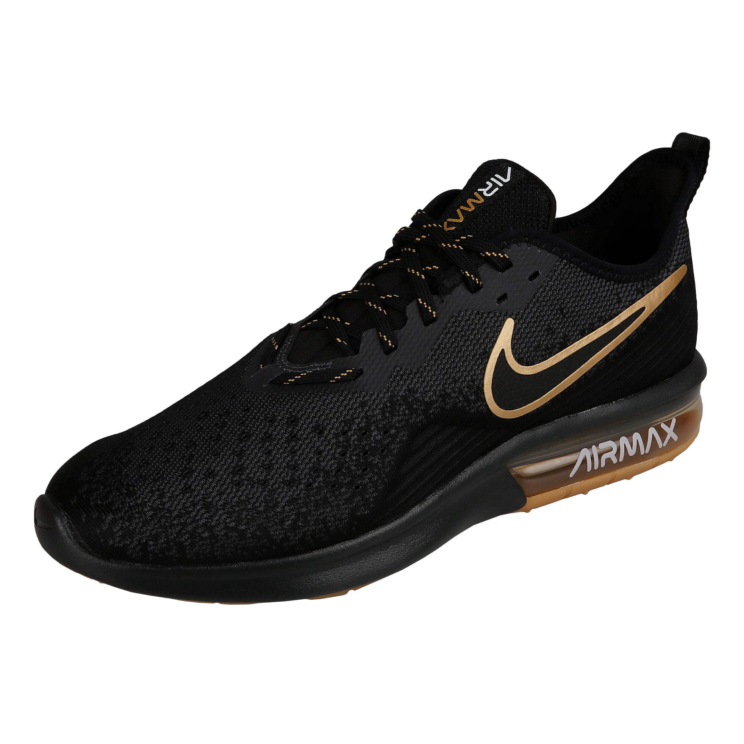 Nike Air Max Sequent 4 Neutralschuh Herren Schwarz, Gold