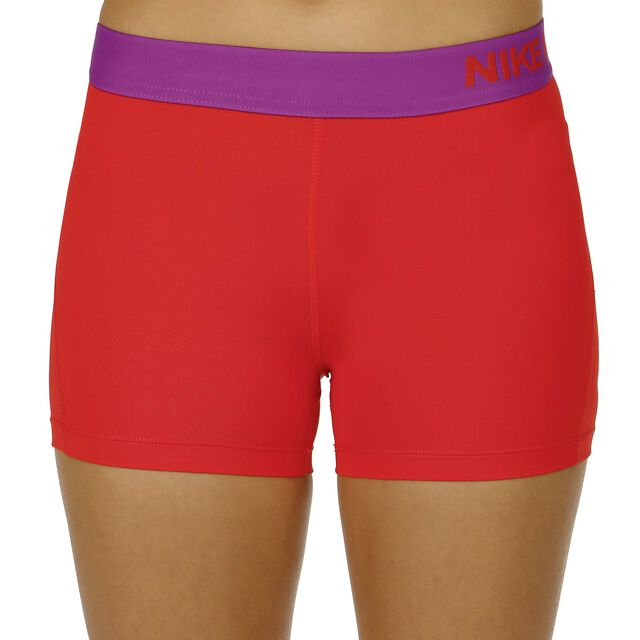 nike pro dry fit 3 shorts damen rot lila online kaufen. Black Bedroom Furniture Sets. Home Design Ideas